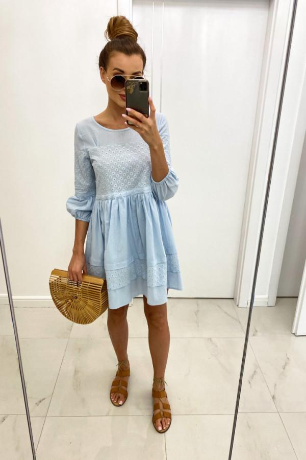 Sukienka bawełna haft LORA