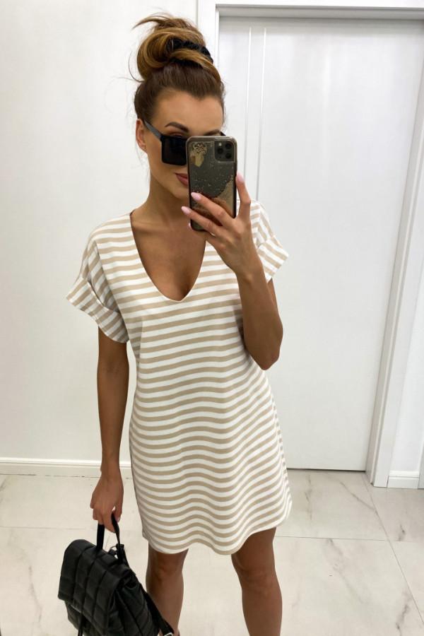 Sukienka v-neck STRIPES