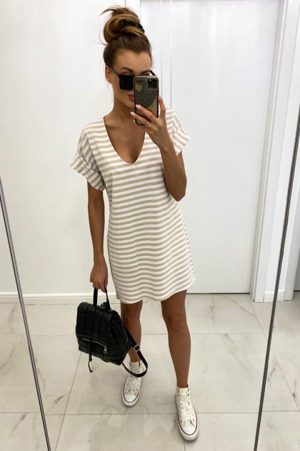 Sukienka v-neck STRIPES 1