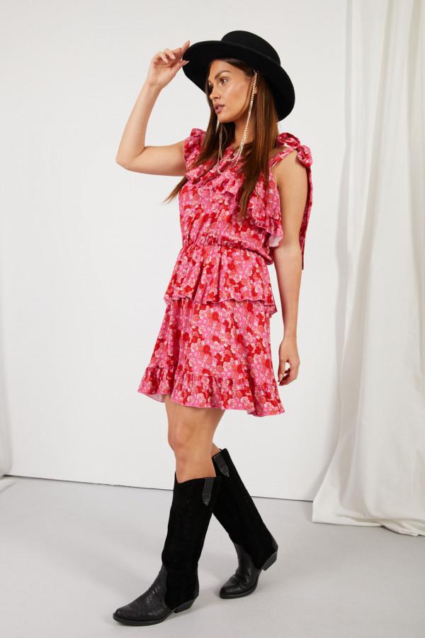 Sukienka z falbanami MIRA 2