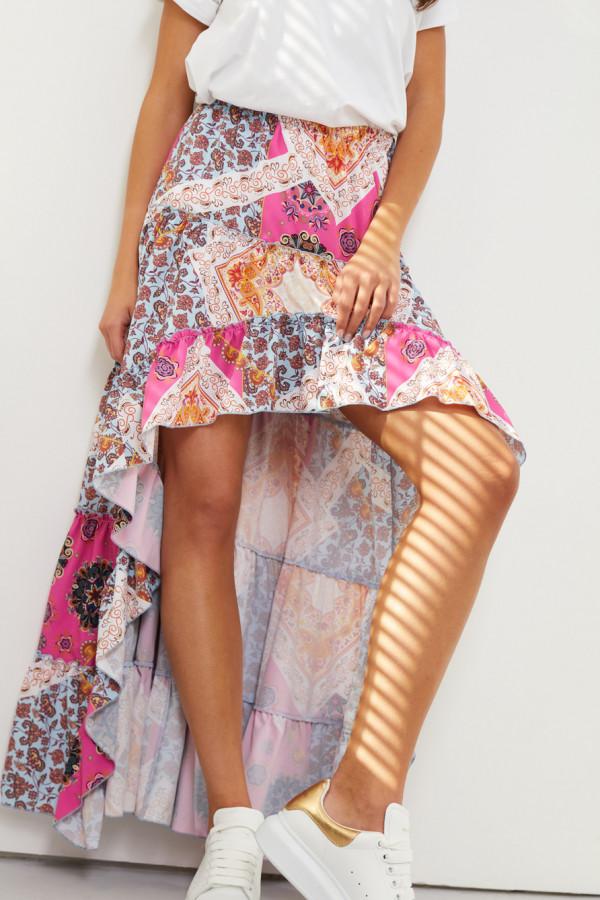 Asymetryczna spódnica z falbaną DARCY 3