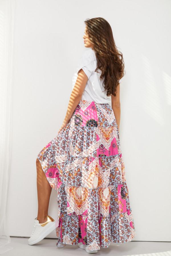 Asymetryczna spódnica z falbaną DARCY 2