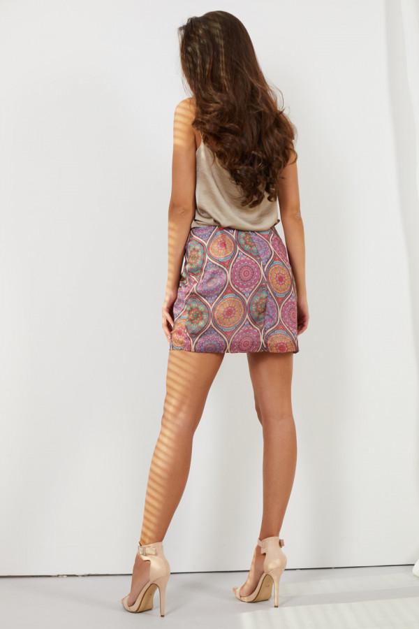 Spódnica mini we wzory STACY 2