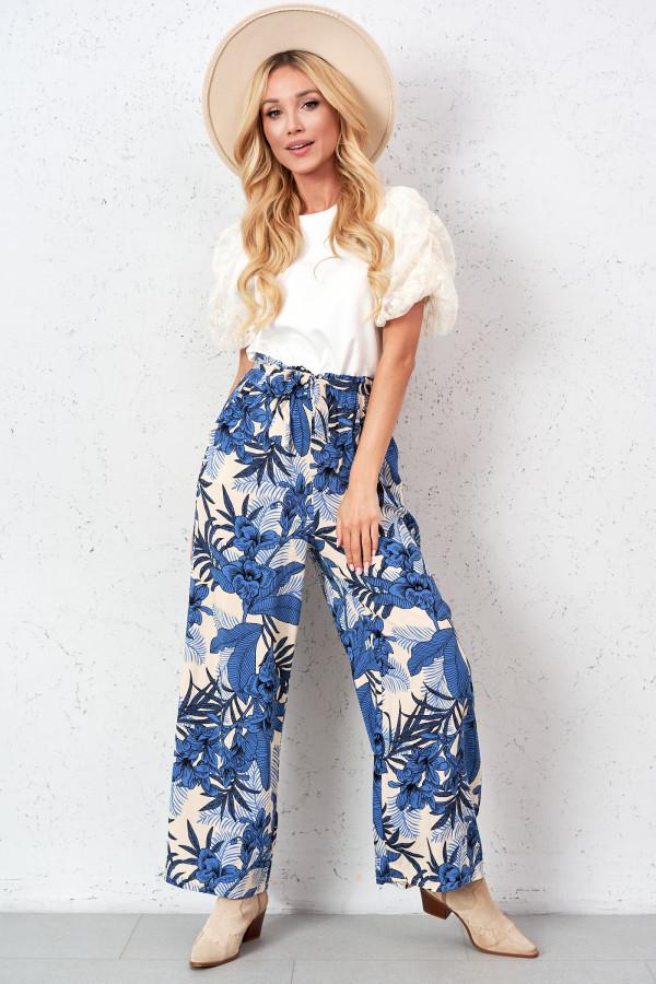 Spodnie w kwiaty PALAZZO 1