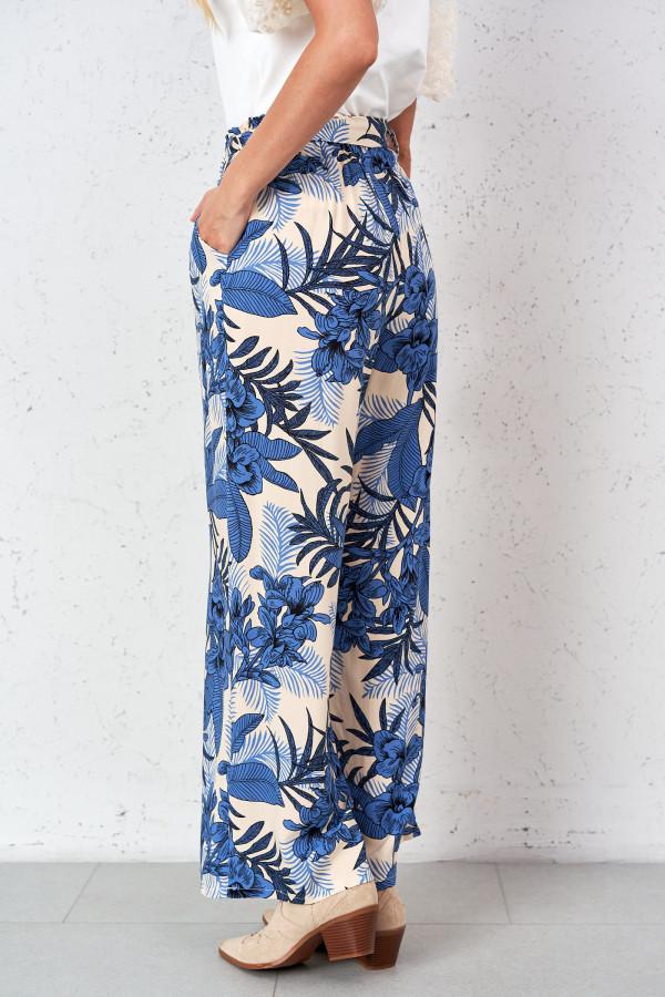 Spodnie w kwiaty PALAZZO 4