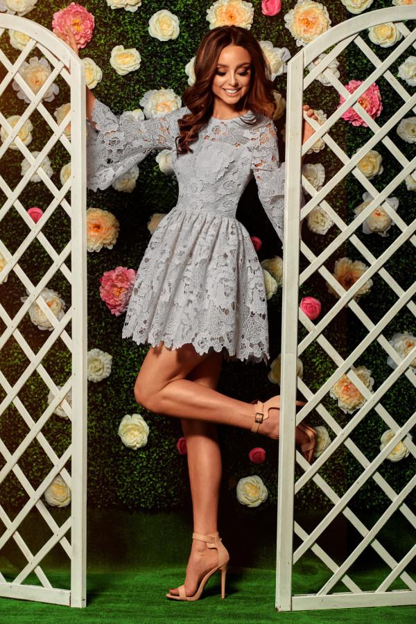 Wizytowa sukienka z koronki ROMANTIC
