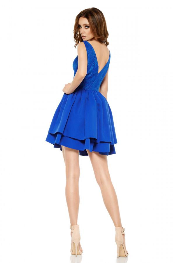 Wieczorowa sukienka mini z koronką 3