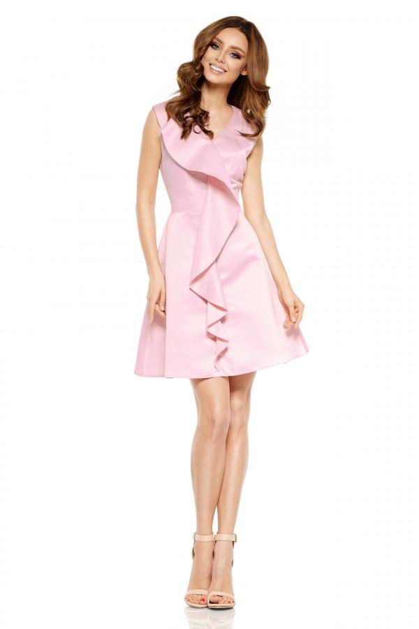 Sukienka koktajlowa z falbaną VALENTINA 1