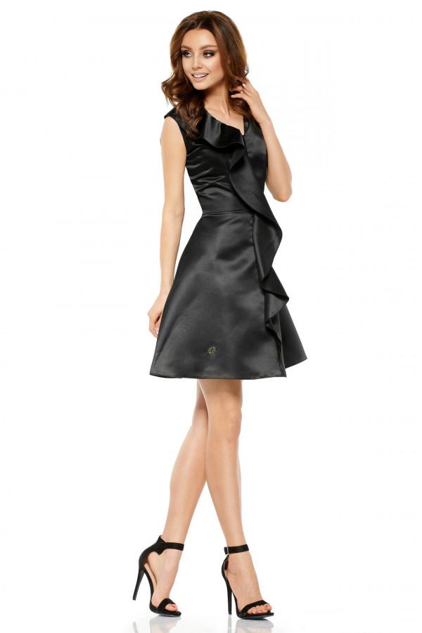 Sukienka koktajlowa z falbaną VALENTINA 2