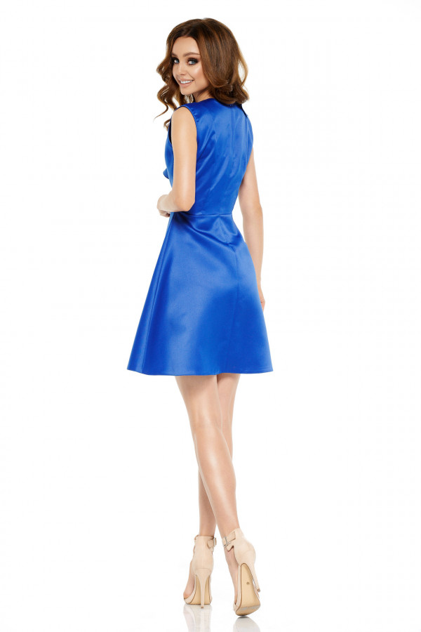 Sukienka koktajlowa z falbaną VALENTINA 3