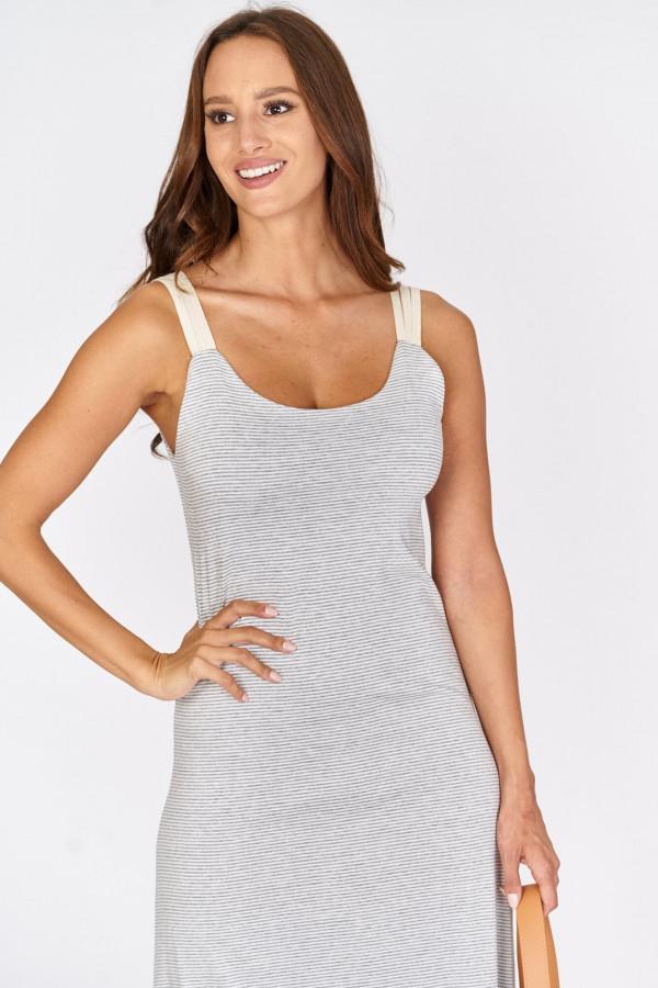 Długa sukienka z wiązaniem na plecach 3