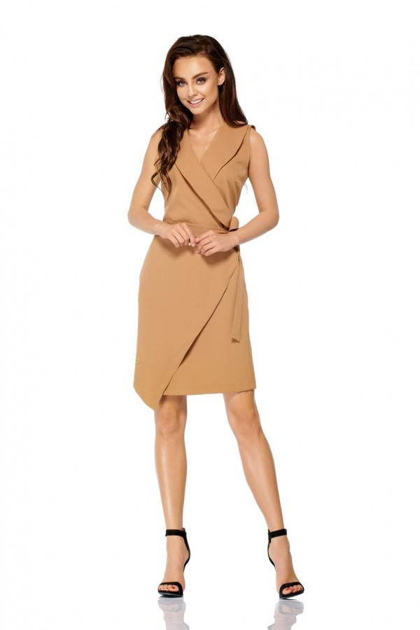 Sukienka kopertowa bez rękawów MAYA