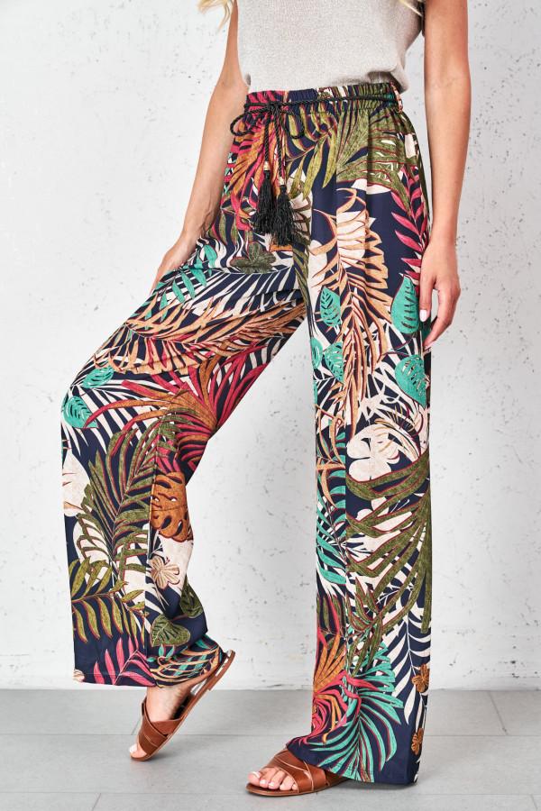 Spodnie w tropikalne wzory PALAZZO 3