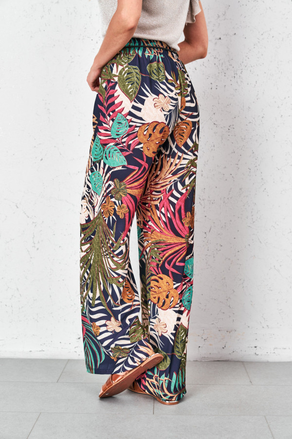 Spodnie w tropikalne wzory PALAZZO 4