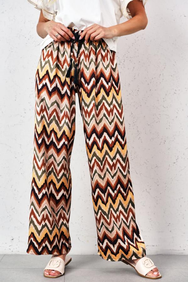 Satynowe spodnie we wzory PALAZZO 3