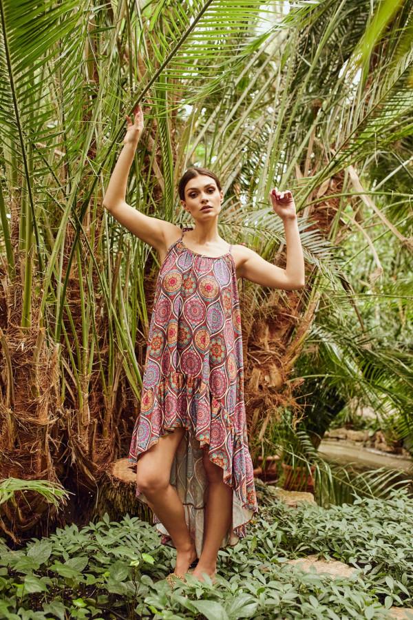 Sukienka asymetryczna we wzory CHLOE
