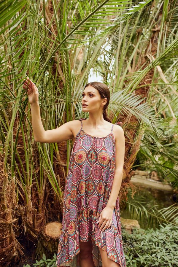 Sukienka asymetryczna we wzory CHLOE 1