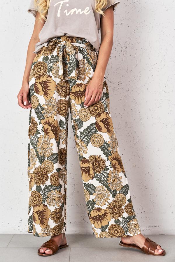 Spodnie w kwiaty PALAZZO 2