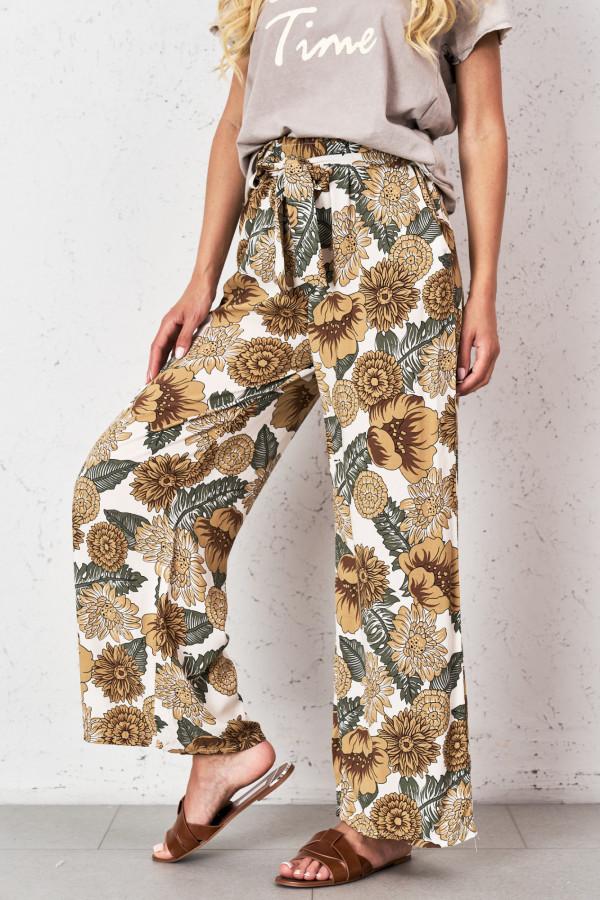 Spodnie w kwiaty PALAZZO 3