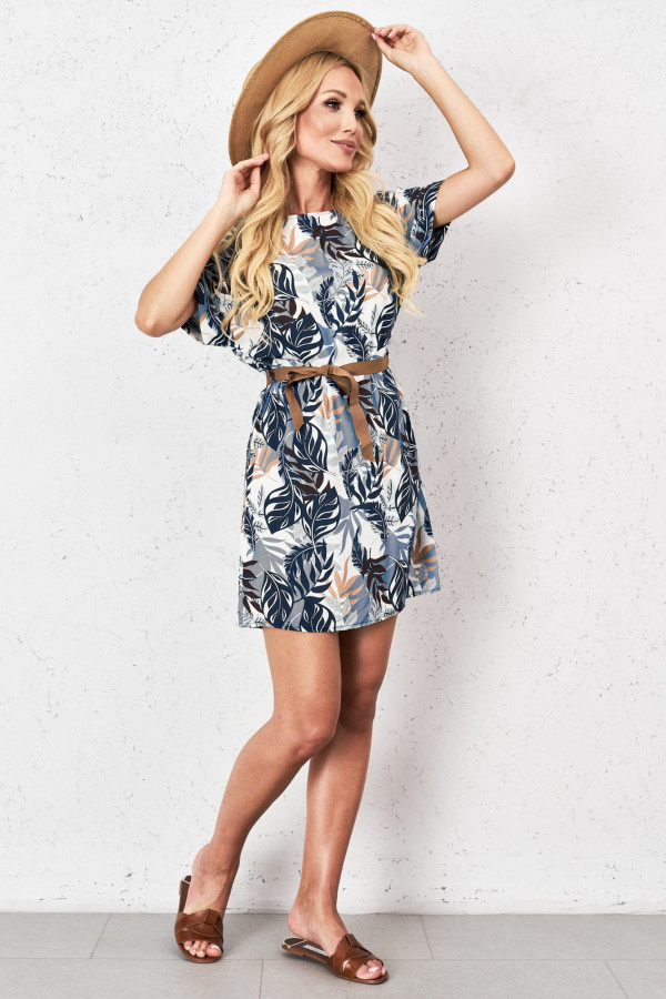 Sukienka w tropikalny print PALM 1