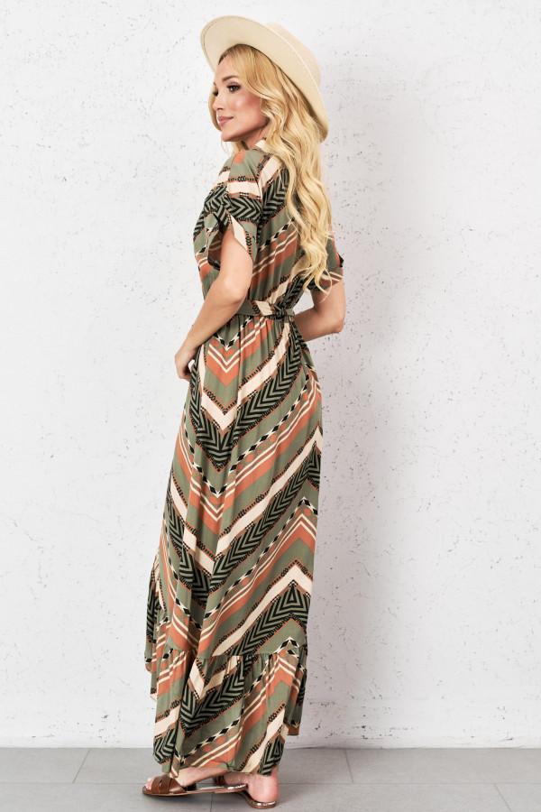 Długa sukienka o kopertowym kroju LANA 2