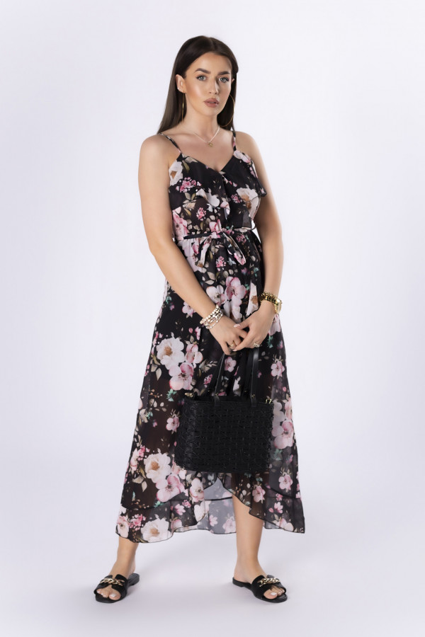 Szyfonowa sukienka maxi HILDA