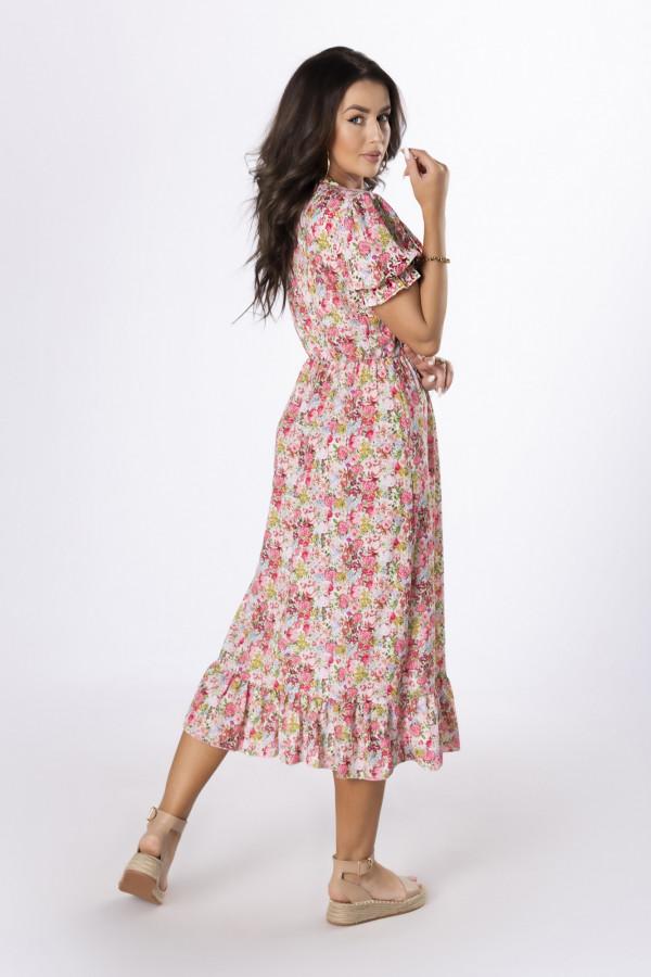 Sukienka midi w kwiaty HANAH 1