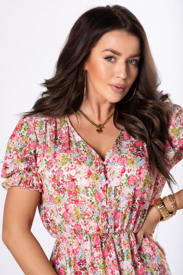 Sukienka midi w kwiaty HANAH 2