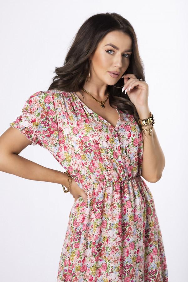 Sukienka midi w kwiaty HANAH 3