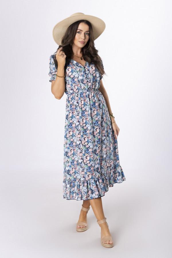Sukienka midi w kwiaty HANAH