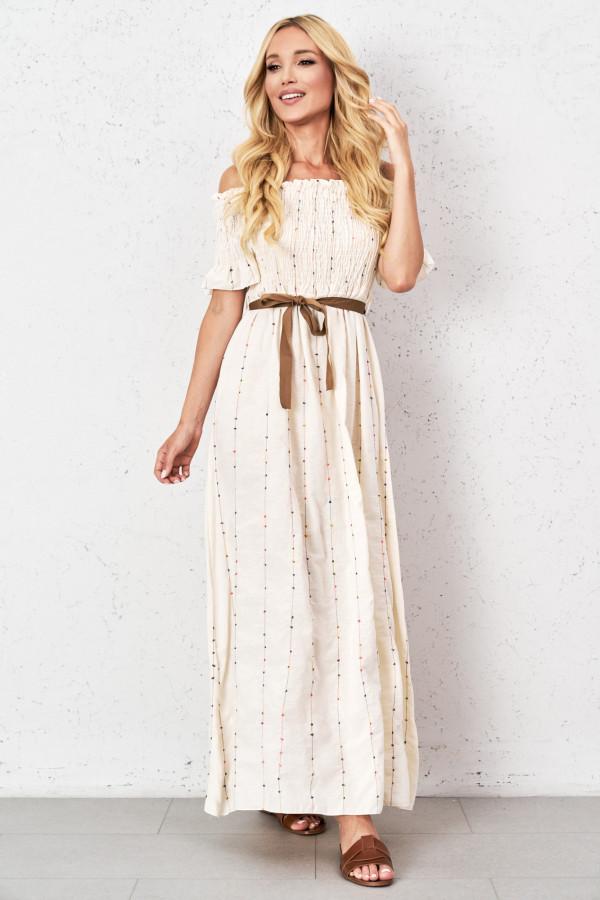 Sukienka maxi w kolorowe hafty ATHENA