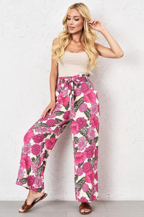 Spodnie w kwiaty PALAZZO