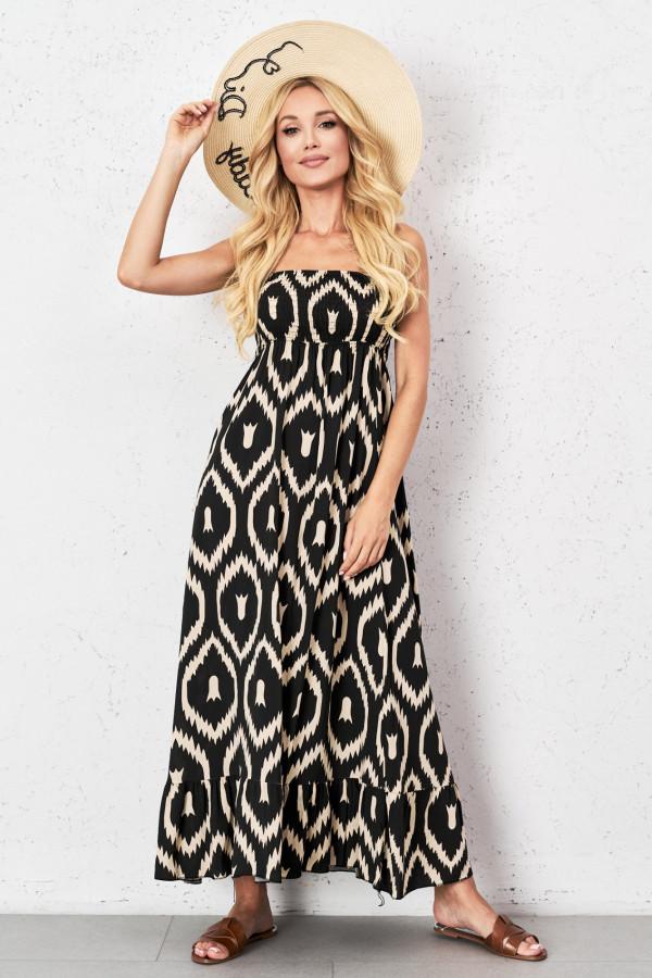 Gorsetowa sukienka maxi CALIOPE