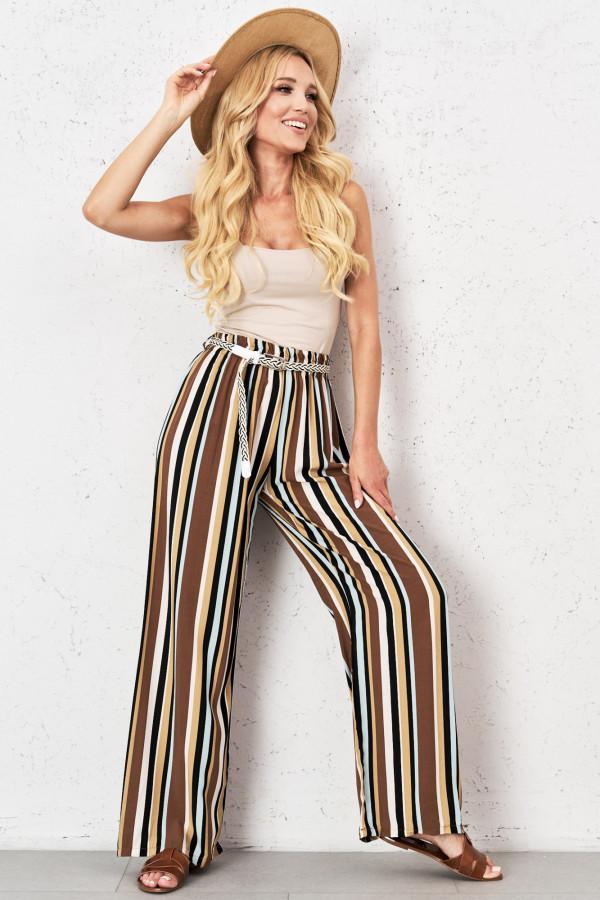 Spodnie w kolorowe paski PALAZZO