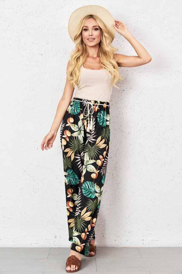 Spodnie w tropikalne wzory TROPICAL