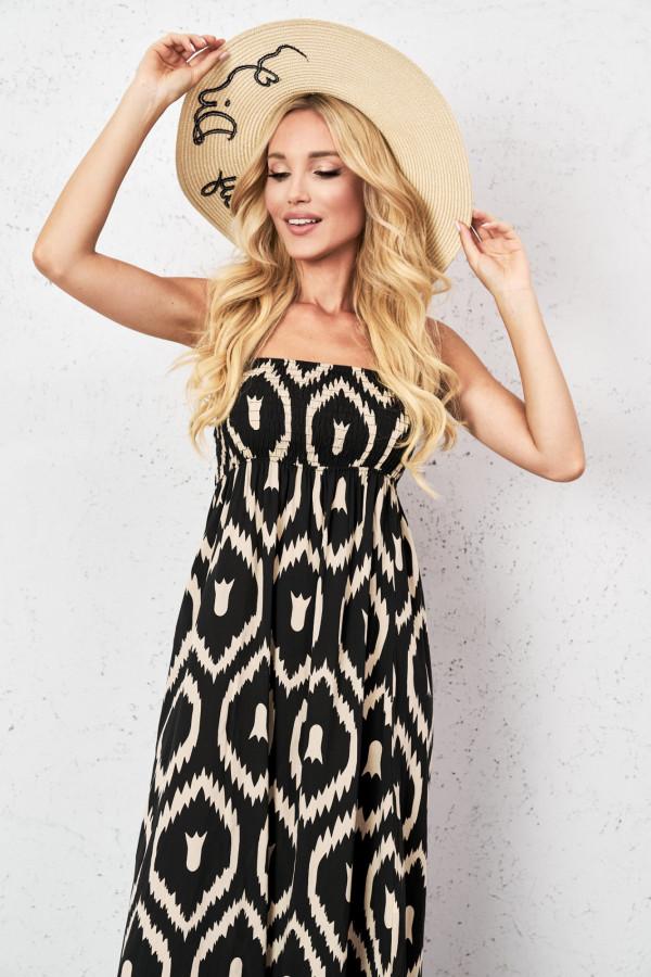 Gorsetowa sukienka maxi CALIOPE 2