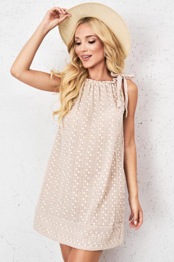 Ażurowa sukienka z wiązaniem GINEVRA 3