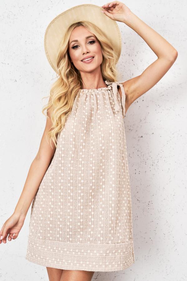 Ażurowa sukienka z wiązaniem GINEVRA 5