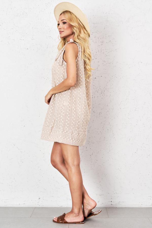 Ażurowa sukienka z wiązaniem GINEVRA 2