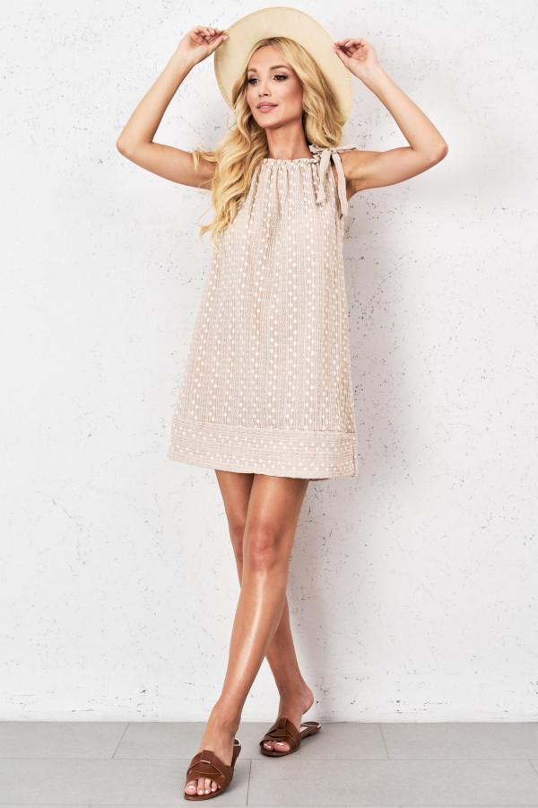 Ażurowa sukienka z wiązaniem GINEVRA 1