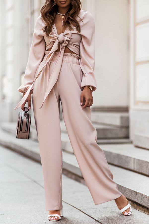 Komplet spodnie i wiązany top TOSSA 1