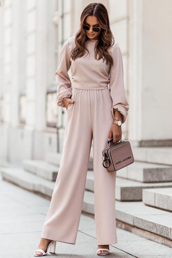 Komplet spodnie i wiązany top TOSSA 3