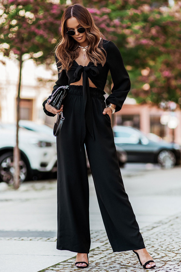 Komplet spodnie i wiązany top TOSSA