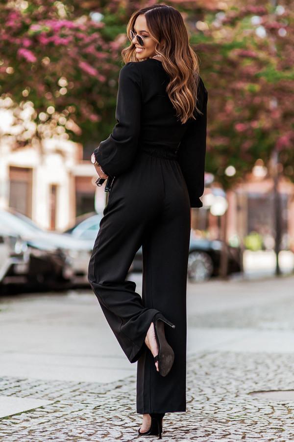 Komplet spodnie i wiązany top TOSSA 2