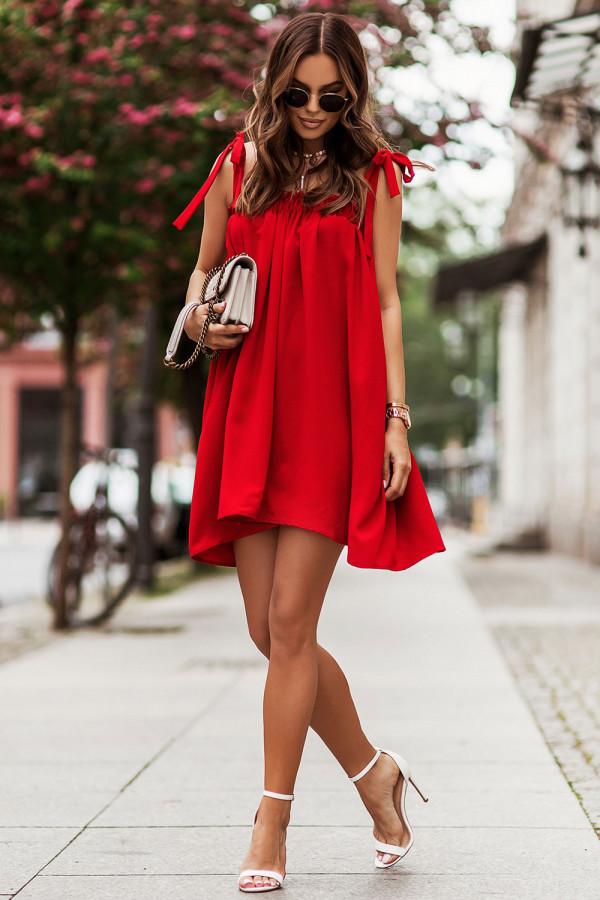 Sukienka z wiązaniem na ramionach ANDI 3