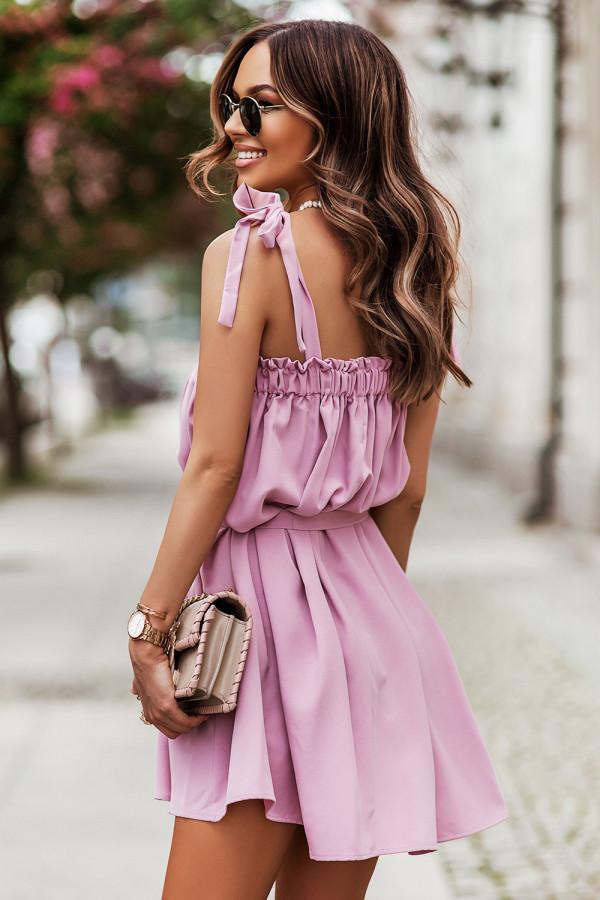 Sukienka z wiązaniem na ramionach ANDI 1