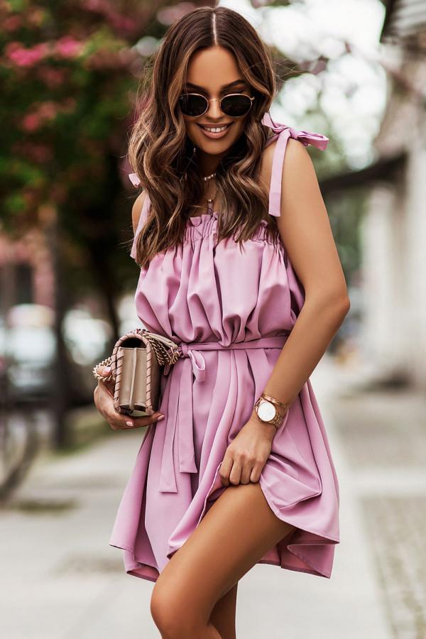 Sukienka z wiązaniem na ramionach ANDI 2