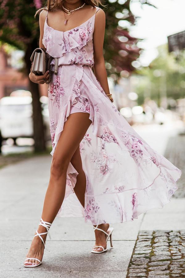 Sukienka szyfonowa w kwiaty AMIS 2