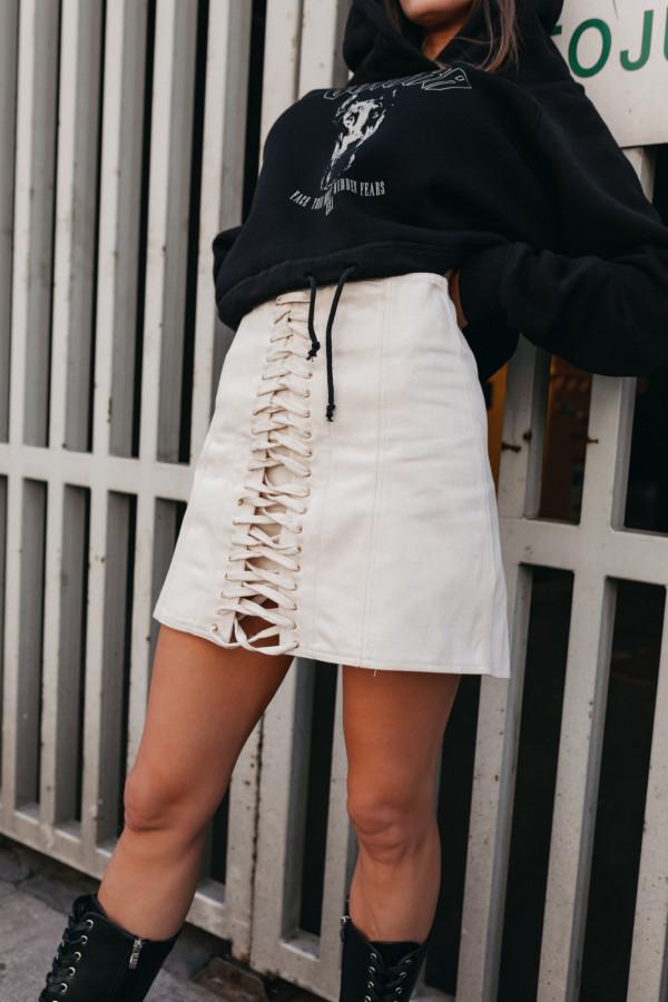 Jeansowa spódnica z wiązaniem SAINT 2