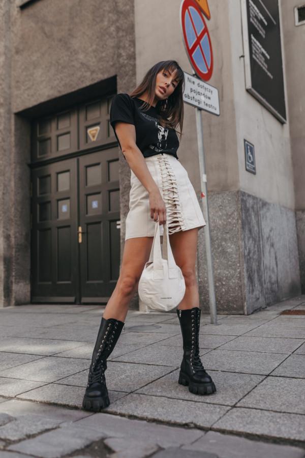 Jeansowa spódnica z wiązaniem SAINT 5